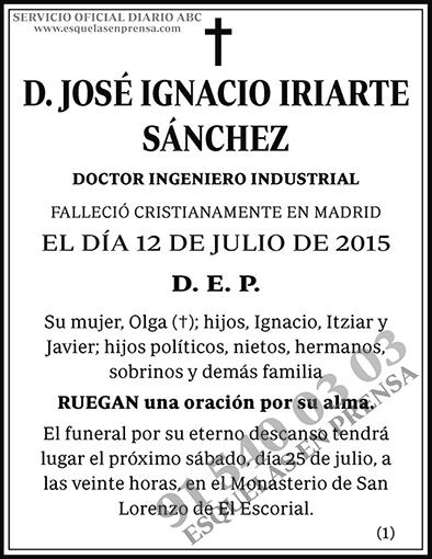 José Ignacio Iriarte Sánchez